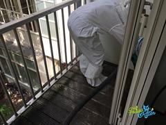 Duivenpoep schoonmaak / Pigeon dropping cleaning 13 - Schoonmaakbedrijf Frisse Kater (FrisseKater) Tags: duivenpoep duiven poep reinigen reiniging schoonmaak schoonmaakbedrijf schoonmaker schoonmaken saneren duif herstellen dieptereiniging amsterdam frisse kater verwijderen balkon