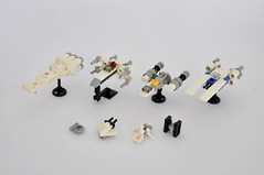 Star Wars minis and micros (Inthert) Tags: tie fighter xwing ywing uwing ghost outrider tantive iv sentinel class shuttle rogue one rebels miniatures micro small tiny lego moc star wars new hope gold squadron blue phoenix alliance microspacetopia micoscale