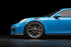 Riviera Star - Porsche 911 (991) GT3 RS - GT Spirit 1/18 (David.T Photography) Tags: porsche911gt3rs porsche 911 gt3rs gtspirit modelcar minature modellauto replica rivierablue canoneos350d 50mm 55250