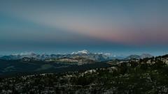 Sunset over the Mont-Blanc (Frédéric Pactat) Tags: nikon d750 d 750 afs nikkor fx 2470mm f28g ed 2470 24 70 f28 28 mountains montagne wilderness nature landscape mont blanc montblanc haute savoie hautesavoie sunset colorful multicolor sky pink blue