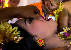 Teenage girl during the tooth filing ceremony, Bali island, Canggu, Indonesia (Eric Lafforgue) Tags: anxiety asia asian bali bali2714 balinese beliefs canggu ceremony clothing colorimage customs dentist file filing headshot headwear hindu hinduism horizontal incisor indigenouspeople indonesia indonesian indonesianculture manusa mesangih onewomanonly pain painful painfully realpeople rite riteofpassage rites ritual sideview spiritual teeth tooth tradition traditional traveldestination women baliisland
