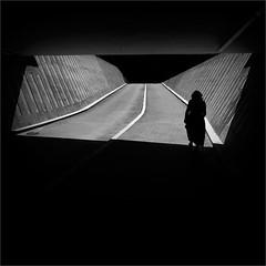 Crossing the Boundary (Olli Kekäläinen) Tags: work4301 nikon d800 photoshop ok6 square ollik 2017 20170710 bw darkness helsinki suomi finland
