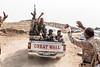Going to work... Peshmergas heading to the front line. (rvjak) Tags: kurdish kurde kurdistan irak iraq war guerre mosul mossul peshmerga fight front kalachnikov arme weapon great wall