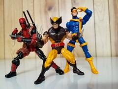 Deadpool, Wolverine, and Cyclops (**Spoonie_(snoop)**) Tags: xmen wolverine deadpool cyclops toys figures