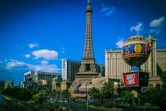 Postcard from Vegas (evanffitzer) Tags: lasvegas vegas city travel paris ballys nevada evanfitzer postcard strip vacation downtown whathappensinvegas photography photographer lightroom getaway blue outdoors