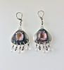 Pink Geode Chandelier Earrings 3a (VioletVengeance) Tags: chandelierearrings metalwork geodes geodejewelry chandelier