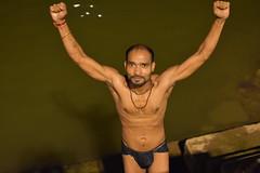 Varanasi, bathing and swimming in the Ganges (10) (walterkolkma) Tags: varanasi india ganges ganga swimming bathing streetphotography hinduism nikond5500