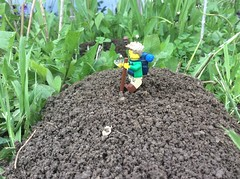 22. Mysterious Mounds (JD430w) Tags: lego hiker hiking outdoors adventure minifigure bigfoot canyouspothim