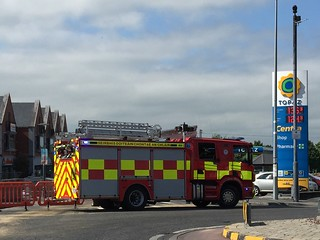 Clare County Fire Service Attending Special Service Call - Fuel Spillage -  At Gort Road, Ennis