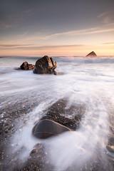 Three Point Turn (Sarah_Brooks) Tags: seascape sea swooshery rocks cornwall devon sandymouth le longexpo peak sky