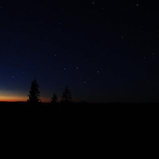 A Distant Mt. Lassen Under the Stars