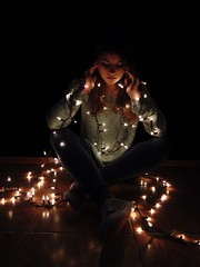 BFF (llicela) Tags: light night noche luces led lucesnavideñas amiga coni bff mapsi amo love lights friends concepcion sonydsch300