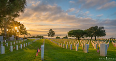 The sacrifice of others (ihikesandiego) Tags: ft rosecrans national cemetery san diego sunrise