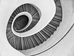 Tartarus (Douguerreotype) Tags: uk gb britain british england london city urban architecture bw blackandwhite mono monochrome helix spiral stairs steps geometry geometric
