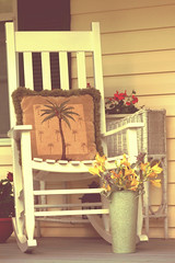 Vintage look...(Explored) (Patlees) Tags: rocker frontporch southern vintage