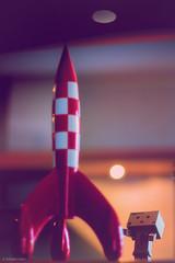 Cosmic Castaway, (sdupimages) Tags: rocket spaceship fusée naturemorte stilllife softlight dof bokeh danbo