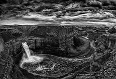 Churn (Dwood Photography) Tags: bw black white blackandwhite dwoodphotography dwoodphotographycom waterfall palouse falls palousefalls washington 2017