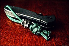 A two-strand lanyard knot variant (Stormdrane) Tags: paracord 550cord stormdrane mabelmarble video tutorial 785a twostrand lanyard knot darkgreen emerson kershaw pocketknife wave schmuckatellico kiko tiki pewter blackoxide bead blackwash thumb disk disc onehanded opening waved edc everydaycarry scouting military camping survival bushcraft hiking work play boating sailing craft decorative useful utility retention crimp melt burn singe lighter torch