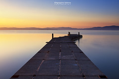 The old jetty (Agrippino Salerno) Tags: italy umbria castigliondellago trasimeno lake laketrasimeno landscape seascape jetty colors morning dawn sky blue goldenhour agrippinosalerno canon manfrotto longexposure acqua crepuscolo lago paesaggio cielo