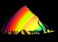 A piece of a rainbow (sodorasodi) Tags: rainbow color abstract cd dvd holographic glass composition