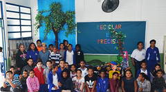 Alunos da EM Luiz Gonzaga realizam trabalho com material reciclável (Prefeitura de Itanhaém) Tags: escola educação meioambiente reciclagem luiz gonzaga