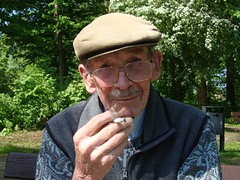 On the sunny side of the smoke (captain_joe) Tags: heinz father vater smoker raucher portrait