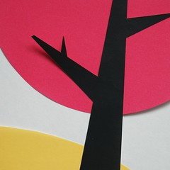 cherry blossom (Sara Cunha) Tags: wip paper papercut origamipaper mujiorigamipaper colours silhouette tree