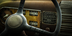 Old Ford dashboard (Kevin Povenz Thanks for the 3,100,000 views) Tags: 2017 may kevinpovenz westmichigan ottawa ottawacounty truck auto dashboard steering steeringwheel wheel round old orange oil canon7dmarkii sigma70mmmacro classic