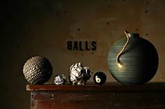 Black Balls, White Balls, Silver Balls, Balls on Fire. (Studio d'Xavier) Tags: blackballs blackwhite balls stilllife strobist bomb eightball
