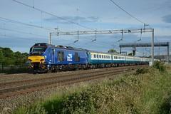 68026 Rugeley 15/06/2017 (Brad Joyce 37) Tags: 5z54 66432 mk2 ecs train sunshine bluesky rugeley locomotive diesel drs class68 68026