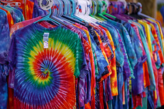 Get Your Tie-Dyed Clothes Here (Karol A Olson) Tags: greenmanfestival greenbelt maryland festival arty earthy may17 tiedye tshirts vendor bright colors 3boldcolour 117picturesin2017