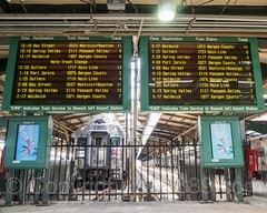 NJ Transit Track Assignment Boards, Hoboken Terminal, New Jersey (jag9889) Tags: 2017 20170528 architecture board building gardenstate hoboken house hudsoncounty nj njtransit njt newjersey newjerseytransit outdoor railroad railway signboard terminal track train transportation usa unitedstates unitedstatesofamerica assignments electronic jag9889 us