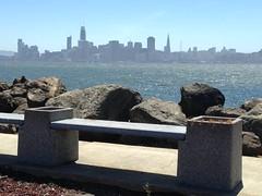 Bench with a View (melystu) Tags: sanfrancisco urban bay ca clear bench hbm treasureisland view free walking sit skyscraper bayarea navalstation park public