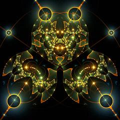 Big Bang (Luc H.) Tags: big bang graphic graphism fractal abstract digital green orange