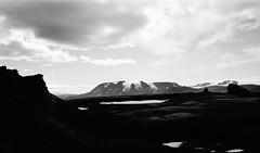 Hrutfell (IggyRox) Tags: iceland island scandinavia europe north highlands kjolur arnessysla hveravellir nature beauty film 35mm mountains sky clouds hike blackandwhite monochrome hrutfell strytur hrutfellsjokull massive glacier ice view light volcano
