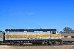 At Williams, Arizona. (Walt Barnes) Tags: scenery scene track trackside rail railroad train locomotive dieselelectric engine canon eos 60d eos60d canoneos60d wdbones99 topazsoftware pse15 williams arizona grandcanyonrailway emd f40ph historic tourist