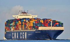 CMA CGM Pegasus (Bernhard Fuchs) Tags: boat cargo cargoships containerschiff containerschiffe elbe cmacgm frachtschiff frachtschiffe nikon schiffe ship ships vessel water schiff boot wasser cuxhaven