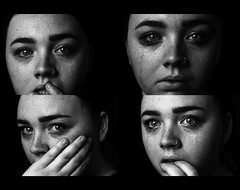 counting wounds and trying to numb them all. (kristen t. cates) Tags: kristen cates photography girl black white questions for you counting wounds trying numb them all crying sad contrast freckles eyes hazel monochrome portrait people camila cabello photoset groupshot canon 50mm 14 60d canon60d photo
