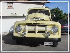 Ford F-1, 1951 (v8dub) Tags: ford f 1 1951 step side pritsche up pick pickup schweiz suisse switzerland fribourg freiburg american pkw voiture car wagen worldcars auto automobile automotive old oldtimer oldcar klassik collector classic