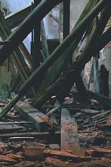 Destroyed (nemkacka) Tags: old destroyed demolished beam ruins house roof