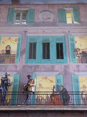 Wall art depicting Storyville (Aldene.Gordon) Tags: neworleans stree scenes new orleans