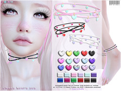 [ bubble ] Sweet Heart Set (::: insanya ::: & [ bubble ]) Tags: secondlife bubble originalmesh accessories choker necklace anklets hearts cord mesh hud discounted whimsical exclusive