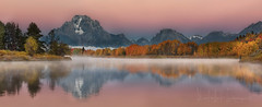 If you really think that the environment is less important than the economy, try holding your breath while you count your money! (PhotoArt Images) Tags: wyoming usa photoartimages oxbowbend grandteton autumn fall reflections
