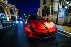 Orange Rot Chrome Ferrari FF (CCaroDD) Tags: ferrari café monaco monte carlos sony a7 red satin chromed dubbed orange rot novitec rosso ff wrapped chrome