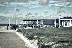 Milchbar, Norderney, Germany ([ PsycBob ]) Tags: milch milk milchbar sky himmel wolken clouds blue blau meer strand sea beach norderney germany north nordsee bar restaurant sketch skizze drawing zeichnung urlaub vacation