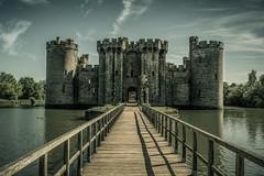 Bodiam Castle in split-tone (James Waghorn) Tags: sigma1020f456 castle spring d7100 water bridge splittone tree eastsussex bodiamcastle clouds england medieval historic