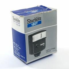 Starblitz, 180T Compact Electronic Flash Unit (Japon) (Cletus Awreetus) Tags: photographie éclairage flash flashélectronique starblitz 180t box boîte emballage carton fujikoeki japon
