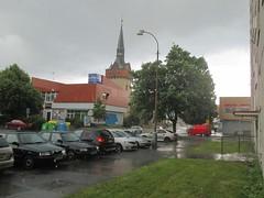 Ulice Havlíčkova v dešti