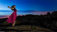 Dancing with the Rising Sun - Joshua Tree National Park with Marine de Vachon (Kent Freeman) Tags: joshuatreenationalpark marinedevachon canon eos 5d mark iii ef1740mm f4 l usm ef 1740mm joshua tree national park marine de vachon urban ballet dance