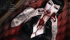 Immortality's Curse (Luηα Couηтeѕѕ) Tags: second life sl edit art blog fashion vampire slackgirl cynful exile identity catwa maitreya vista amara beauty suicidal unborn lovely disarray boudoir cureless